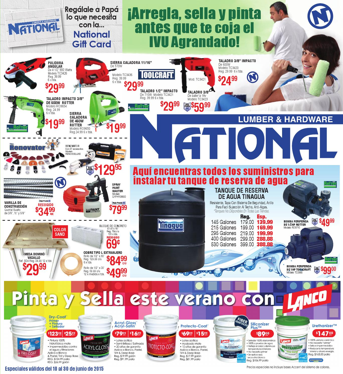 Per National Lumber Hardware Junio 2016 By El Vocero De Puerto Rico Issuu