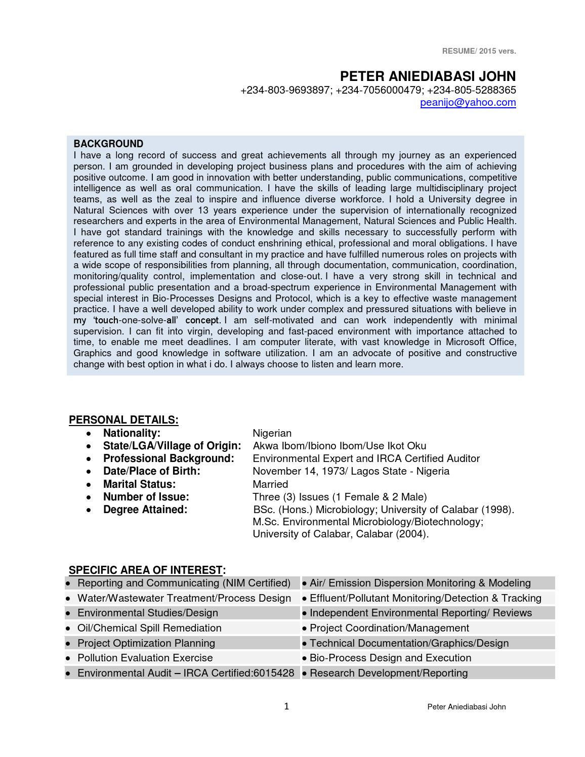 Famous Bioprocess Engineering Resume Collection - Administrative ...