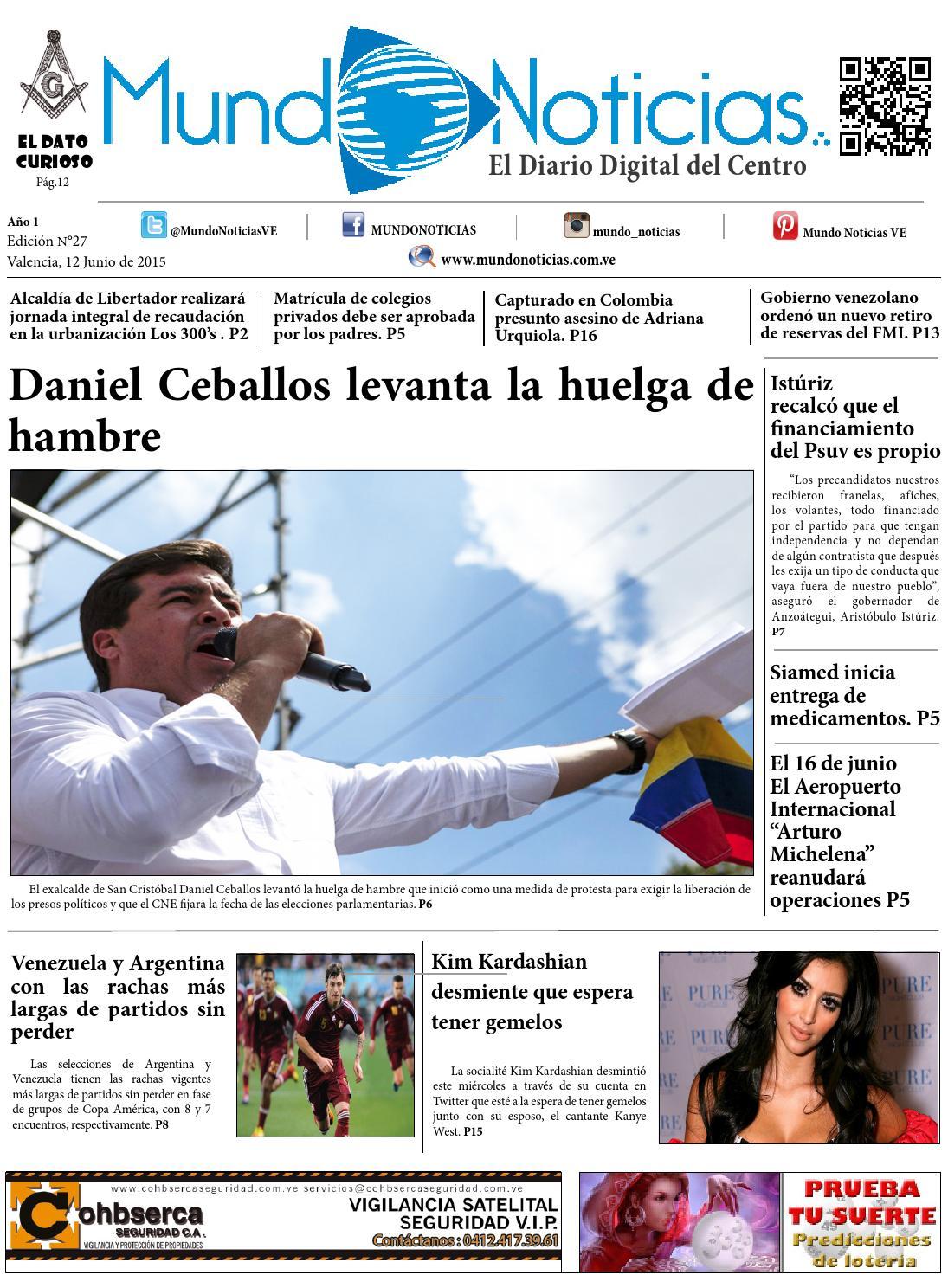 Diario mundo noticias 12 06 2015 by Mundo noticias El Diario Digital ...