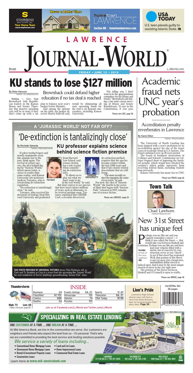 9c2df167b7acb Lawrence Journal-World 06-12-2015 by Lawrence Journal-World - issuu