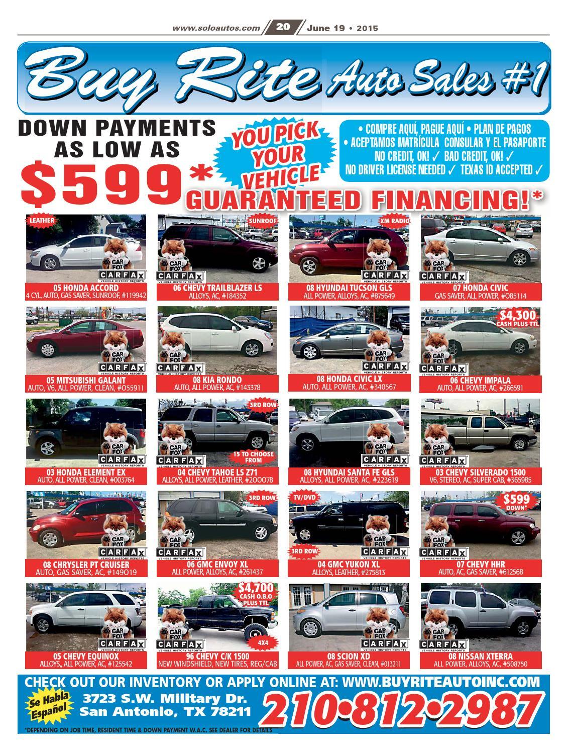 Buy Rite Auto >> Solo Autos San Antonio By Digital Publisher Issuu