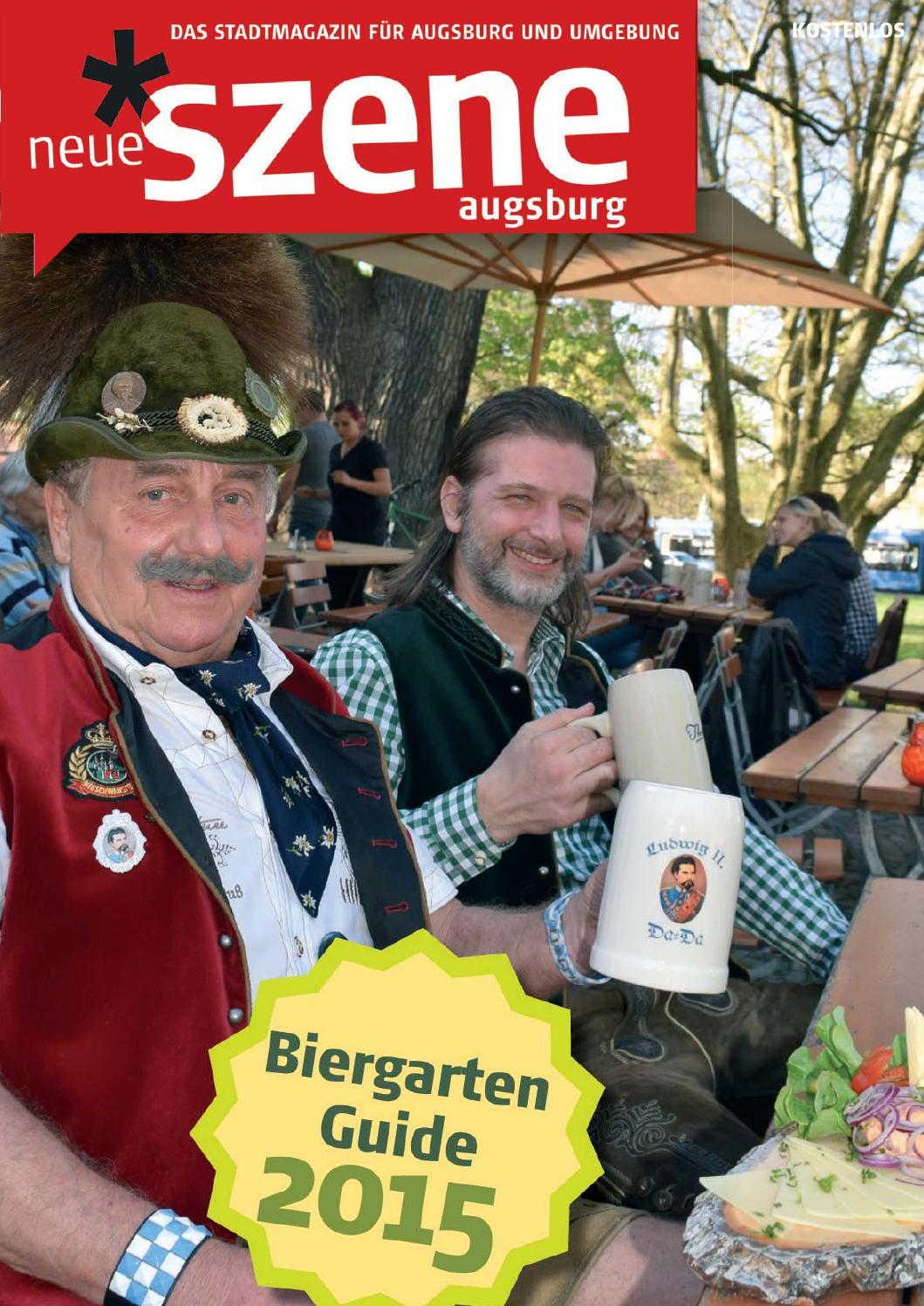 Biergarten Guide Augsburg 2015 By Neue Szene Augsburg Issuu