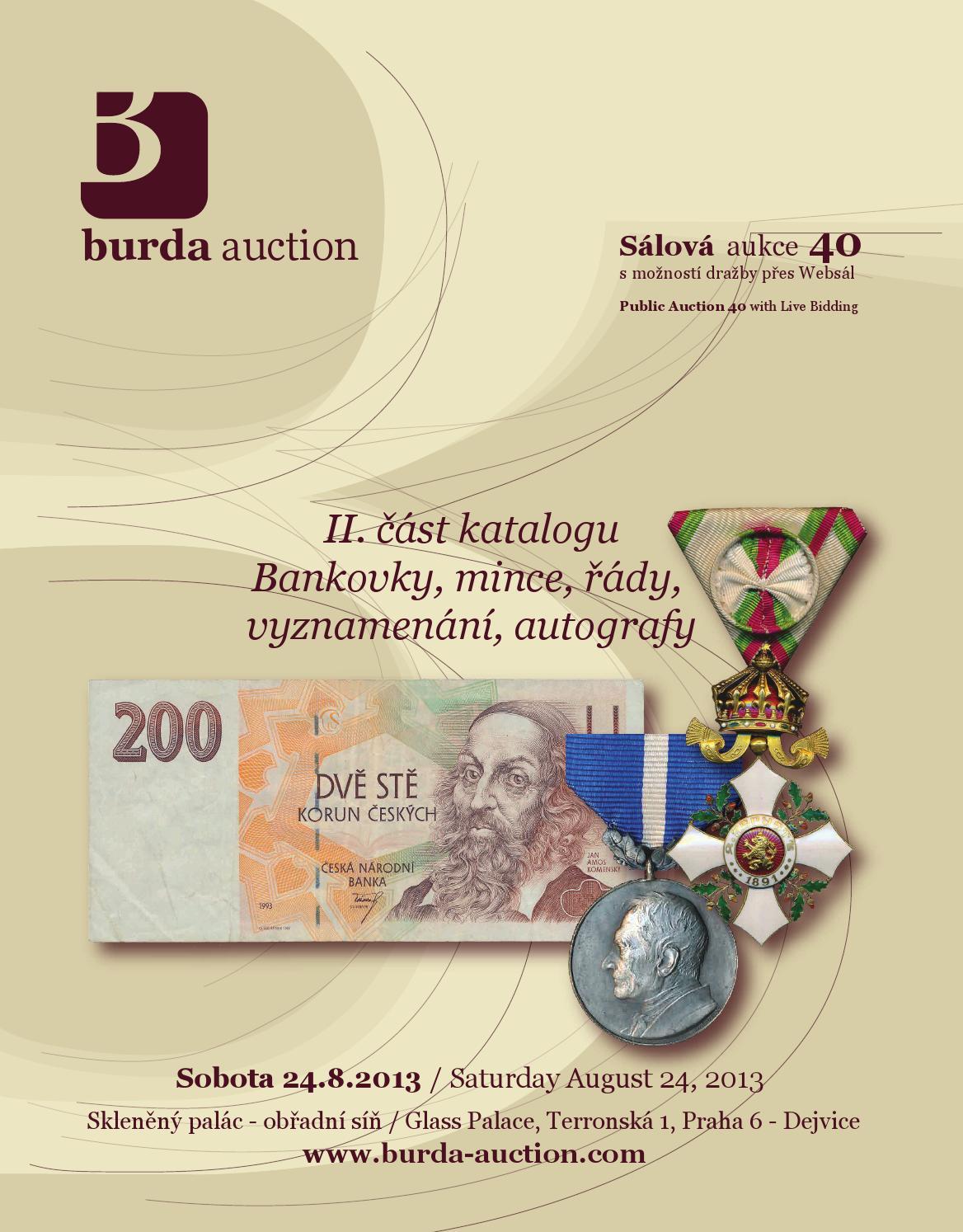 a878c32e4 Public Auction 40 - Auction catalogue - Part II by Burda Auction s.r.o. -  issuu