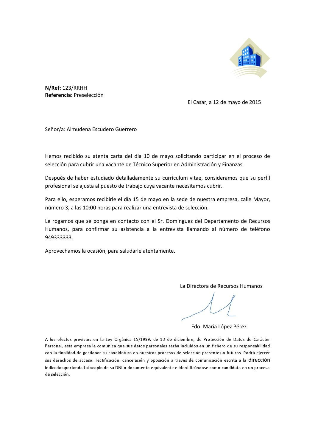 carta convocatoria rrhh tema 9 by almudena escudero issuu