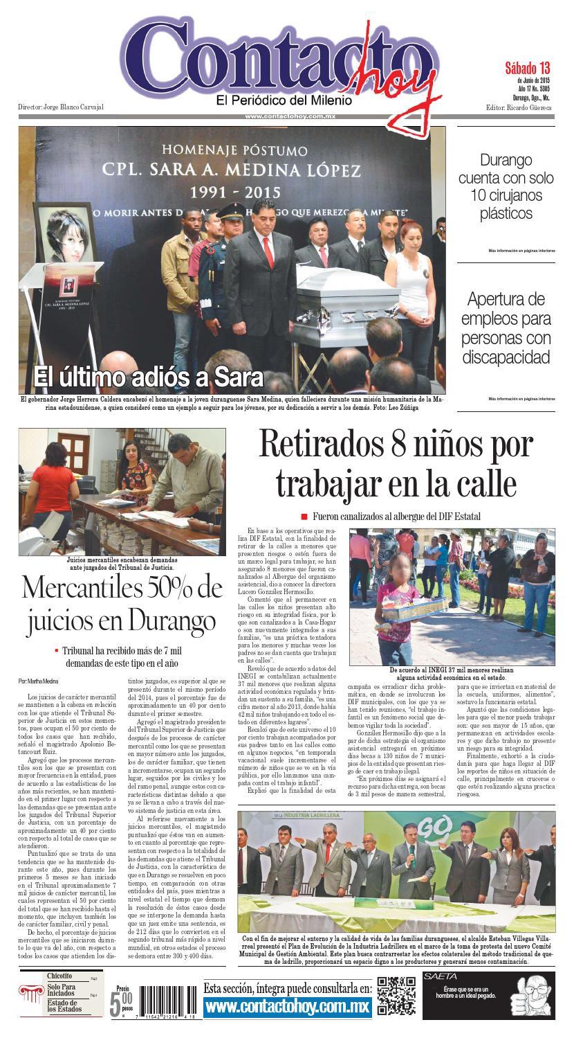 Contacto hoy del 13 de junio del 2015 by Contacto hoy - issuu