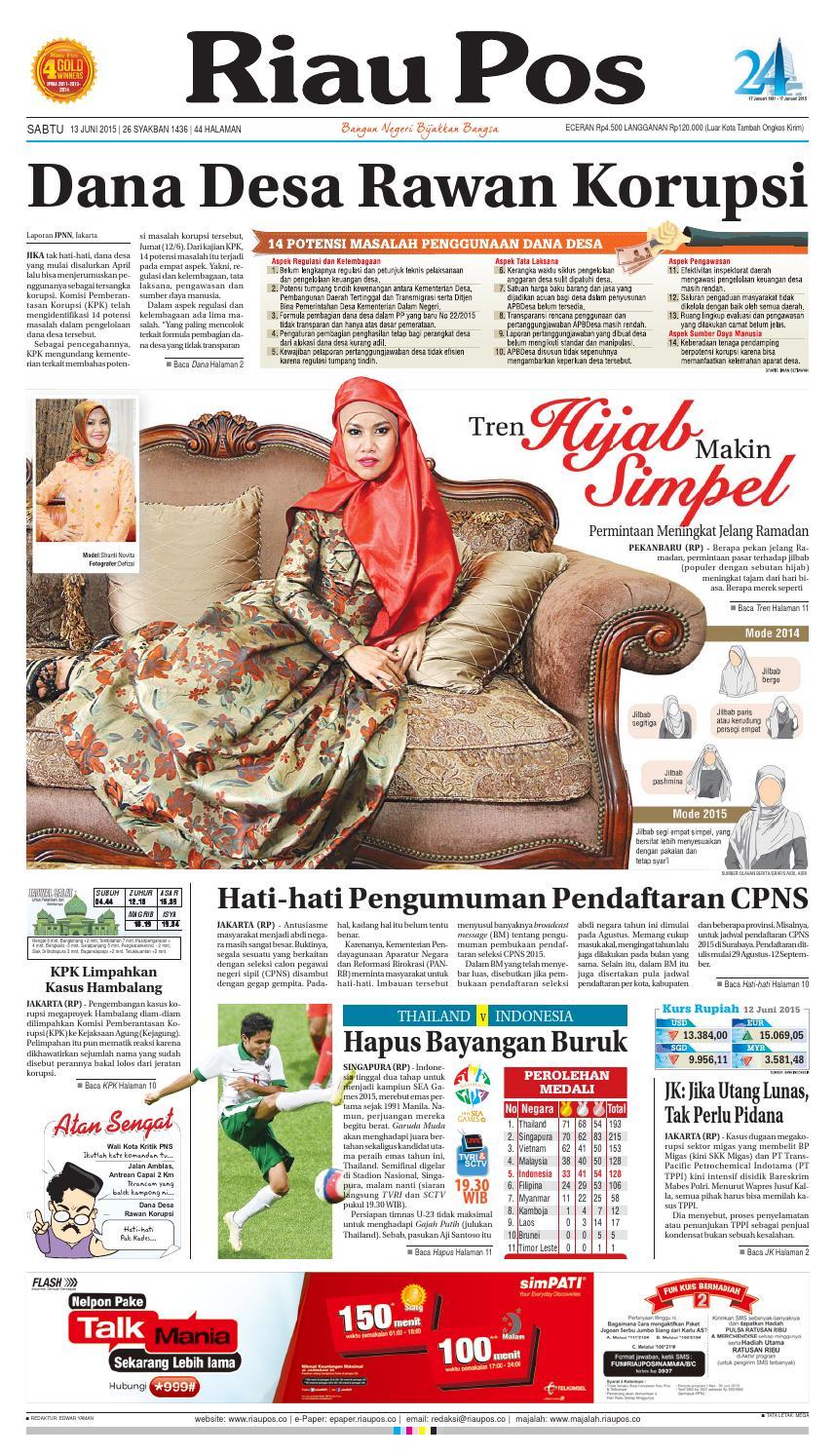 Riau Pos by Riau Pos - issuu 756107d61a