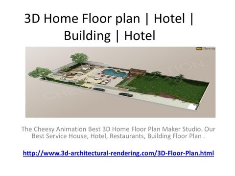 3D Home Floor Plan | Hotel | Building | Hotel By 3D ...
