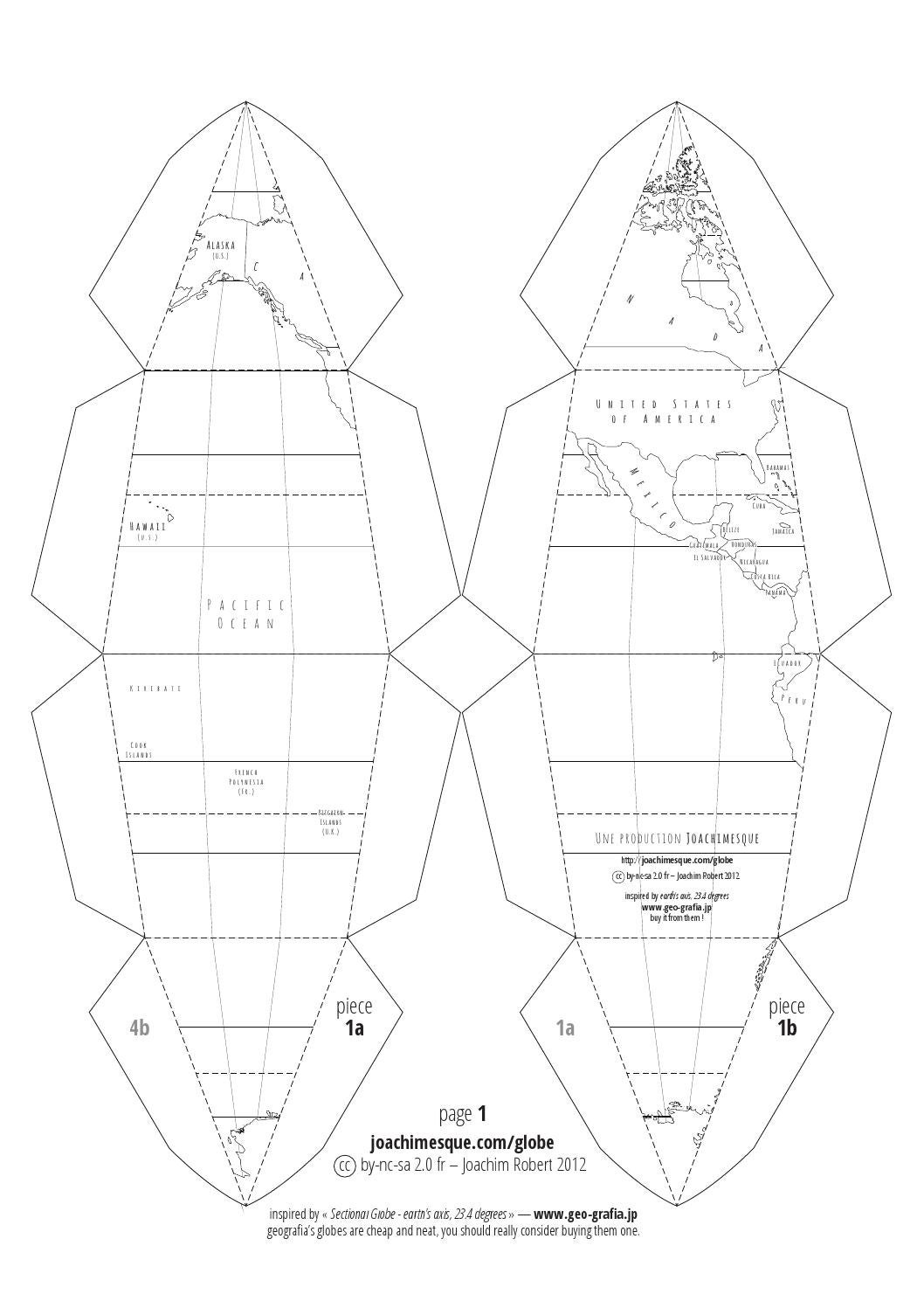 It is a graphic of Universal Printable Globe Template