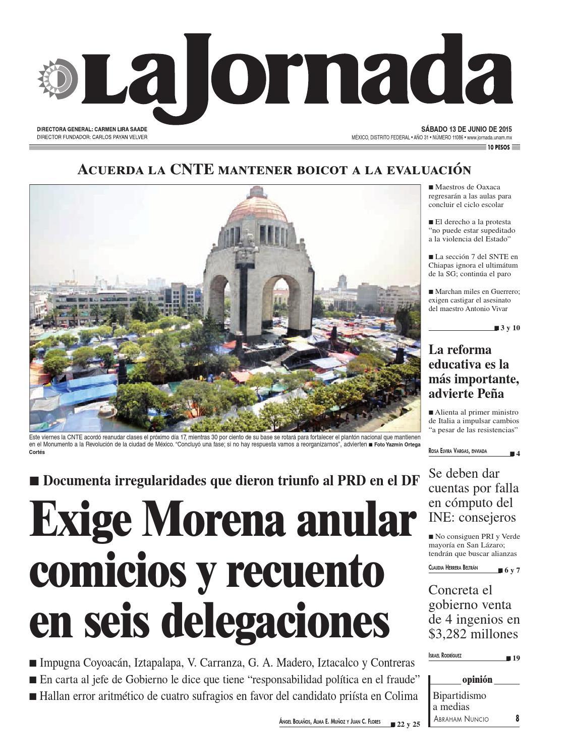 La Jornada, 06/13/2015 by La Jornada: DEMOS Desarrollo de Medios SA ...