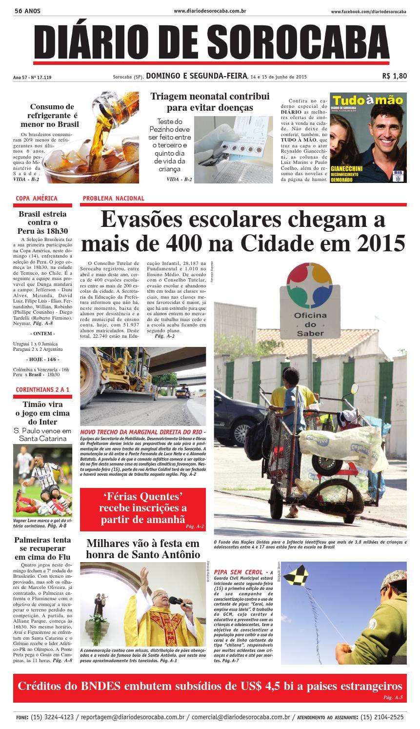 Edição de 13 de junho de 2015 by DIÁRIO DE SOROCABA - issuu 2fc3fa670a2c1