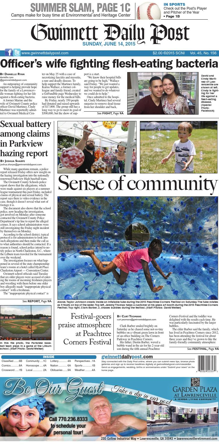 gwinnett daily post u2014 june 14 2015 by gwinnett daily post issuu