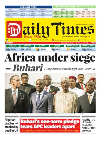 Dtn 15 6 15 by Daily Times of Nigeria - issuu 2a899f3a770a
