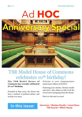 Tsr model house of commons jobs