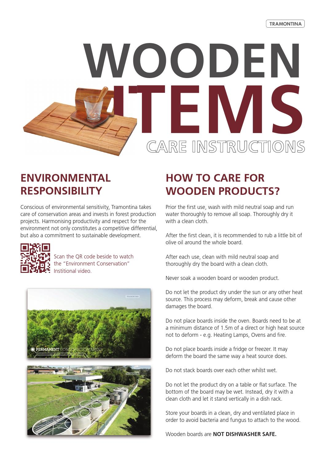 tramontina wooden items care instructions by tramontina australia