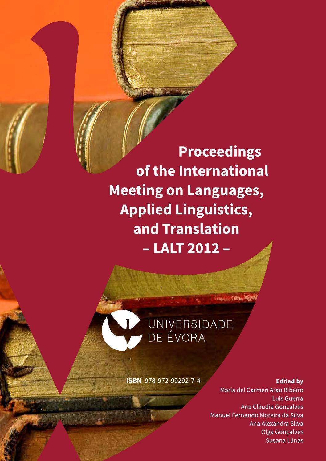 Lalt2012 Proceedings Of The International Meeting On Languages  # Muebles Yoli Pereira