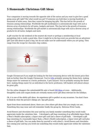5 Homemade Christmas Gift Ideas By Harold9stanley Issuu