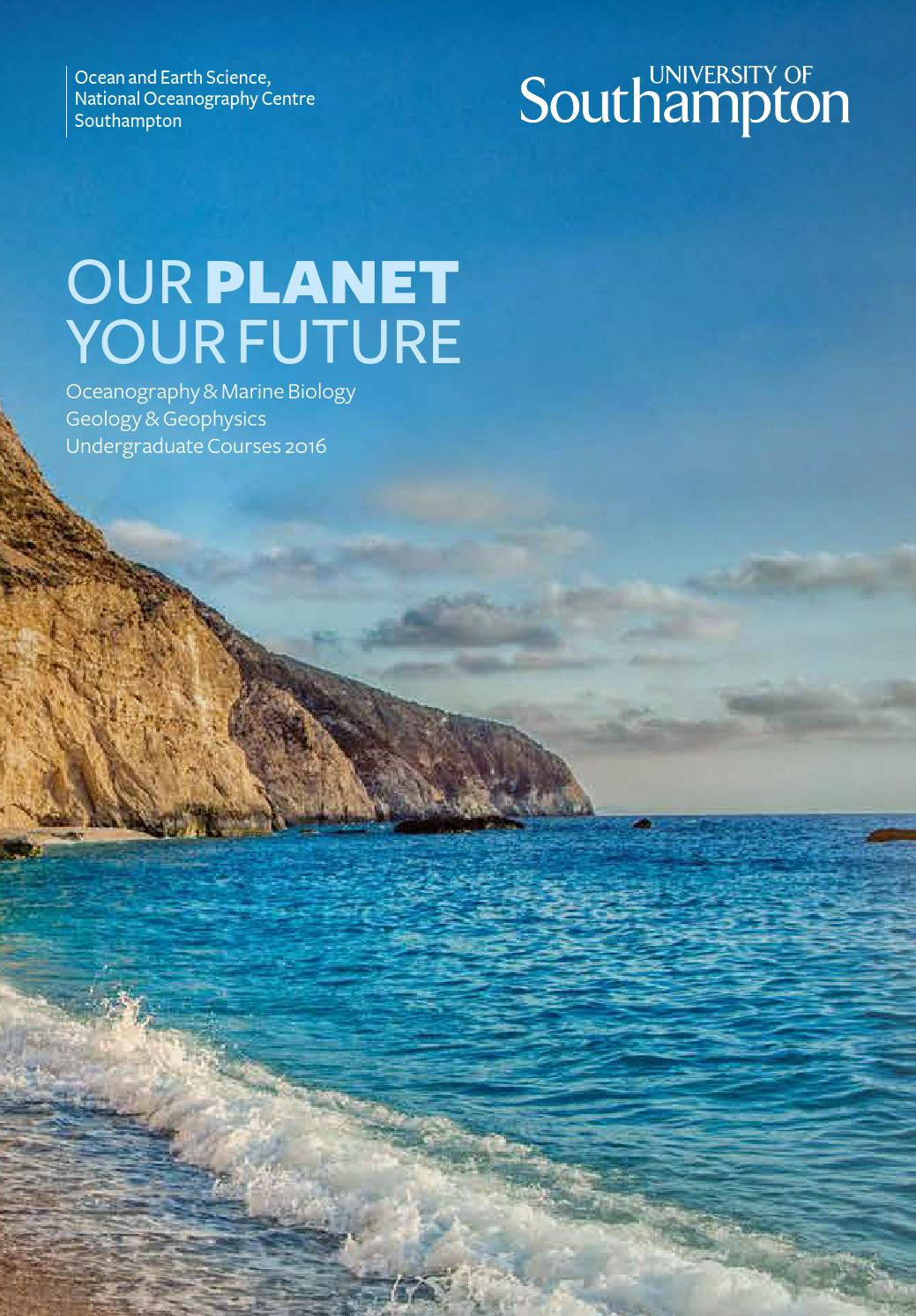 Our Planet Your Future University Of Southampton By University Of Southampton Issuu
