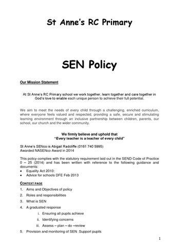 personal statement for senco award