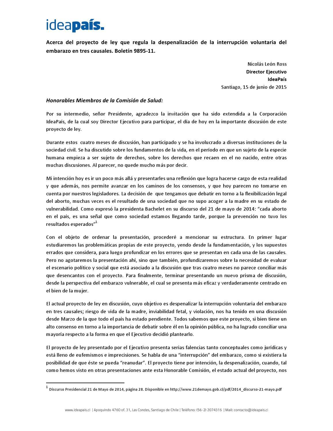 Presentación ante comisión de salud by IdeaPaís - issuu