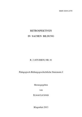 R. 2 (STUDIEN) NR. 81 by Österreichische Gesellschaft für ...