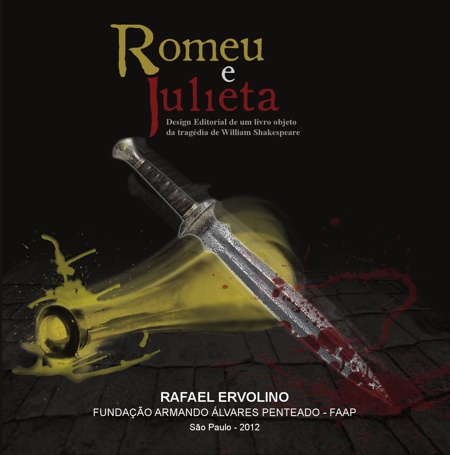 Romeu E Julieta Design Editorial Da Tragedia De William