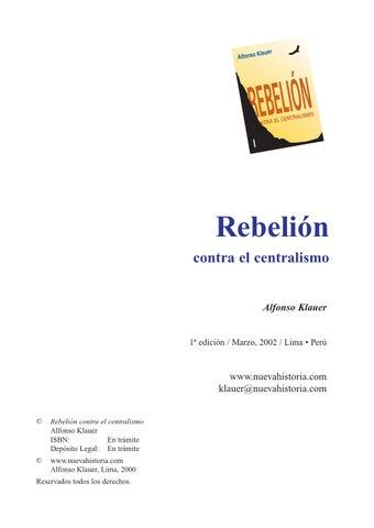 Alfonso klauer rebelion contra el centralismo by dennis - issuu 89d77f2ad3e6