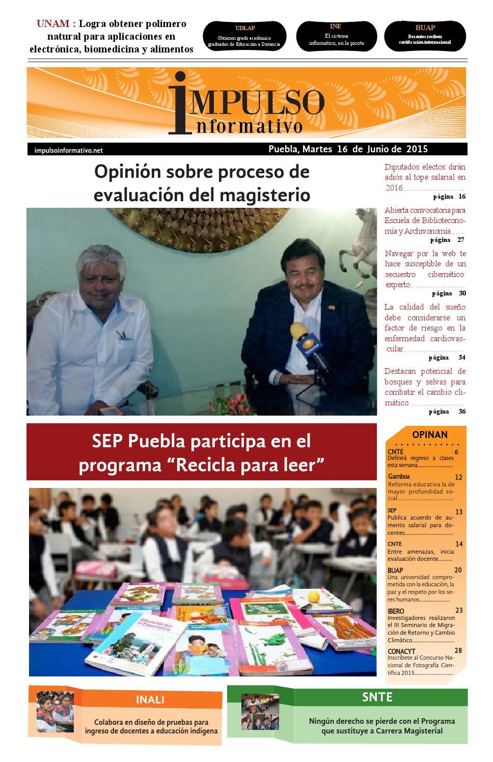 Impulso informativo impreso 16 junio 2015 by Laura Alejandra ...