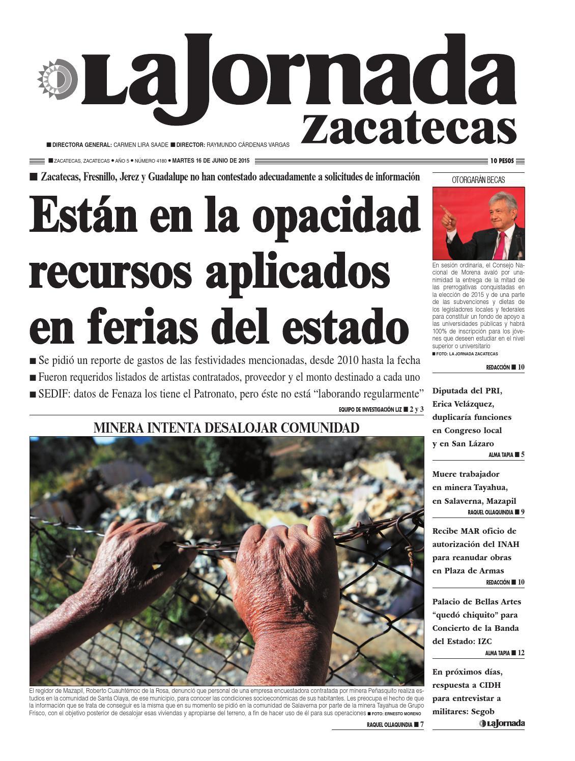 La Jornada Zacatecas, martes 16 de junio del 2015 by La Jornada ...