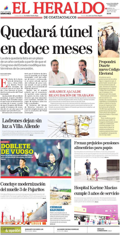 El Heraldo de Coatzacoalcos 16 de Junio de 2015 by El Heraldo de ...