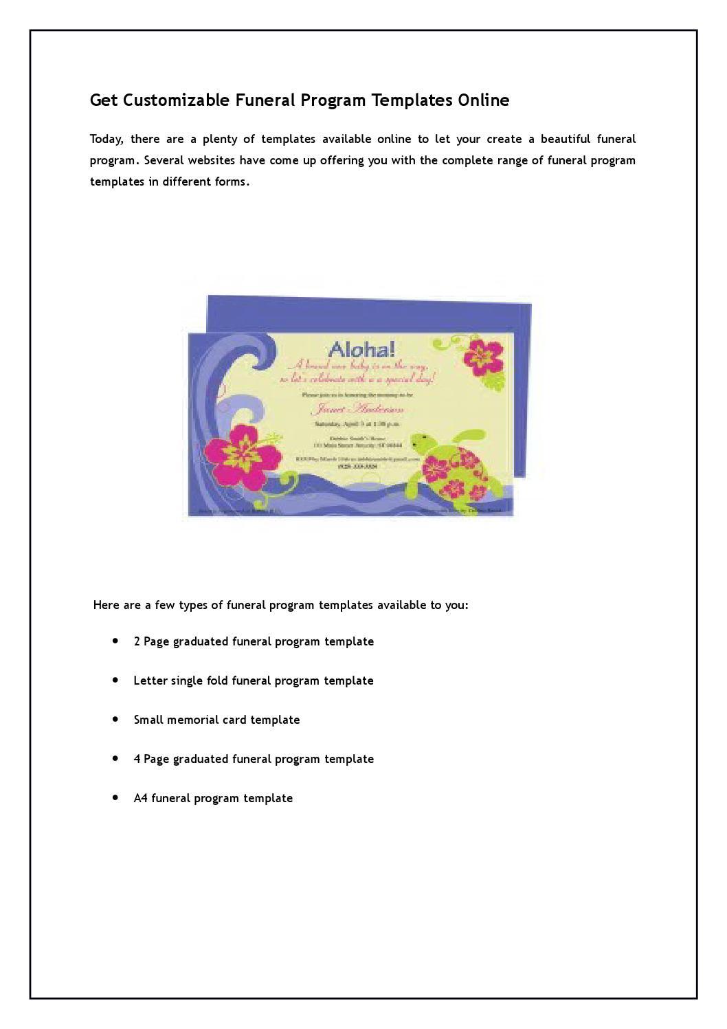 get customizable funeral program templates online by adamsmith121