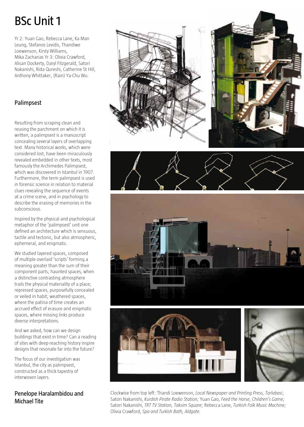 Bartlett School of Architecture Catalogue 2009 by The