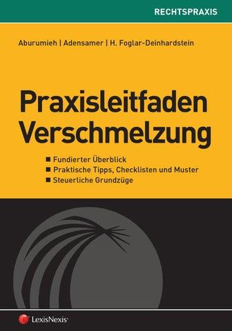 Leseprobe Praxisleitfaden Verschmelzung By Lexisnexis österreich