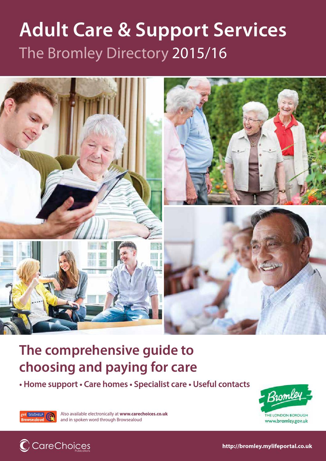 Bromley adult care and support services 2015 16 by care for The bromley