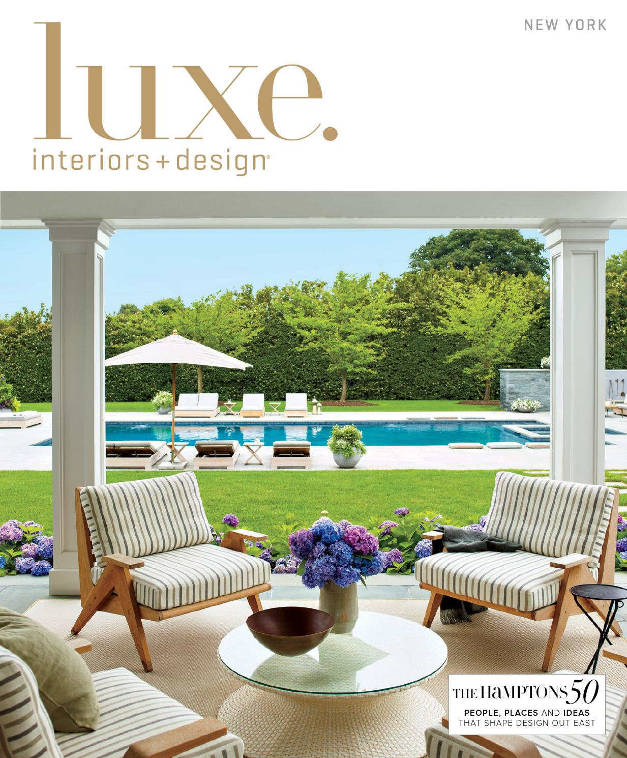 Luxe magazine summer 2015 new york by sandow issuu for Luxe furniture and design