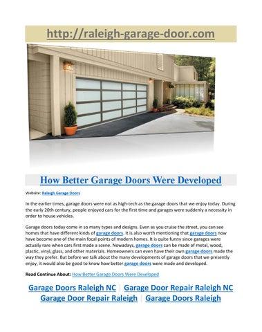 Garage Doors Raleigh Nc How Better Garage Doors Were Developed By