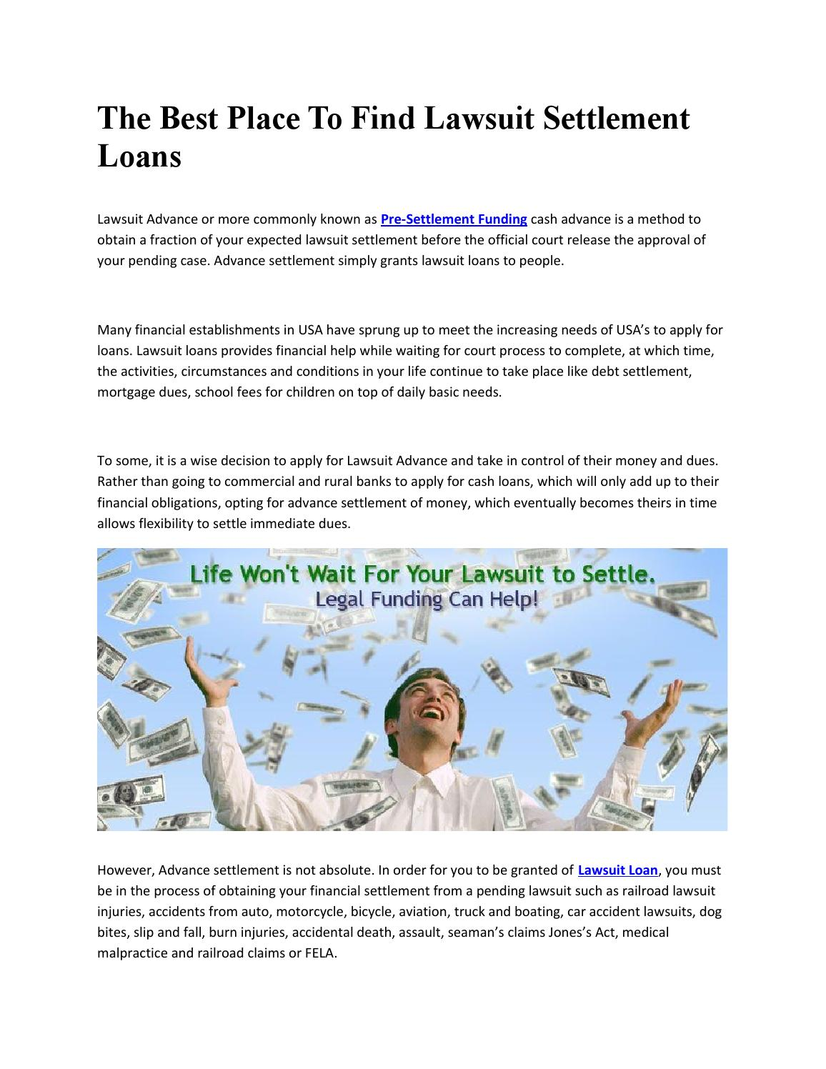 lawsuit loans by lawsuitl loans pre settlement funding - issuu