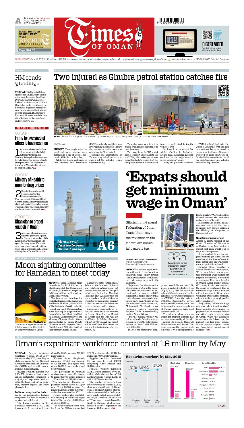Times of Oman - June 17, 2015 by Muscat Media Group - issuu