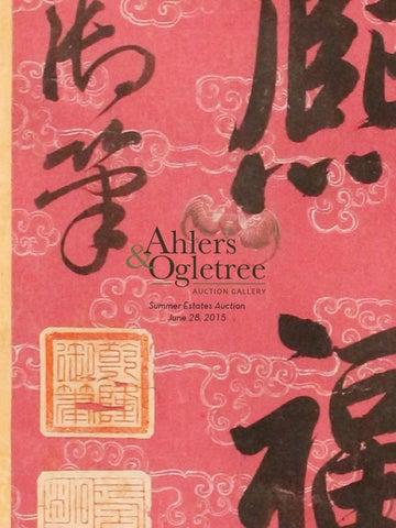 ahlers u0026 ogletree summer estates auction catalog