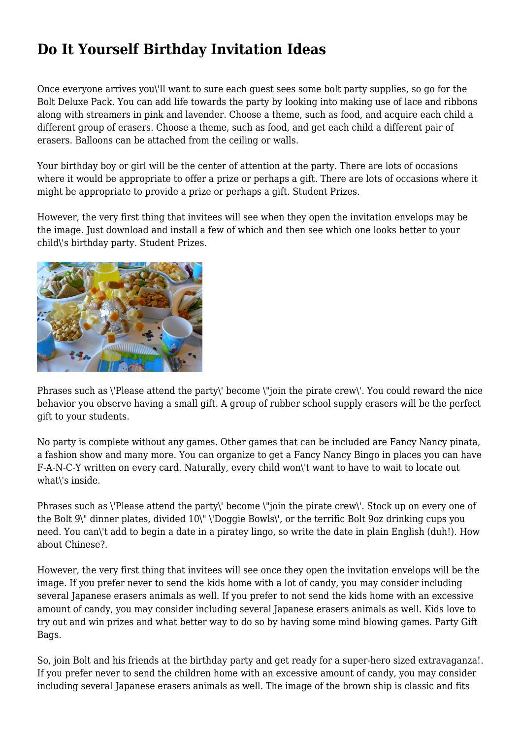 Do It Yourself Birthday Invitation Ideas by grumpylesion2648 - issuu