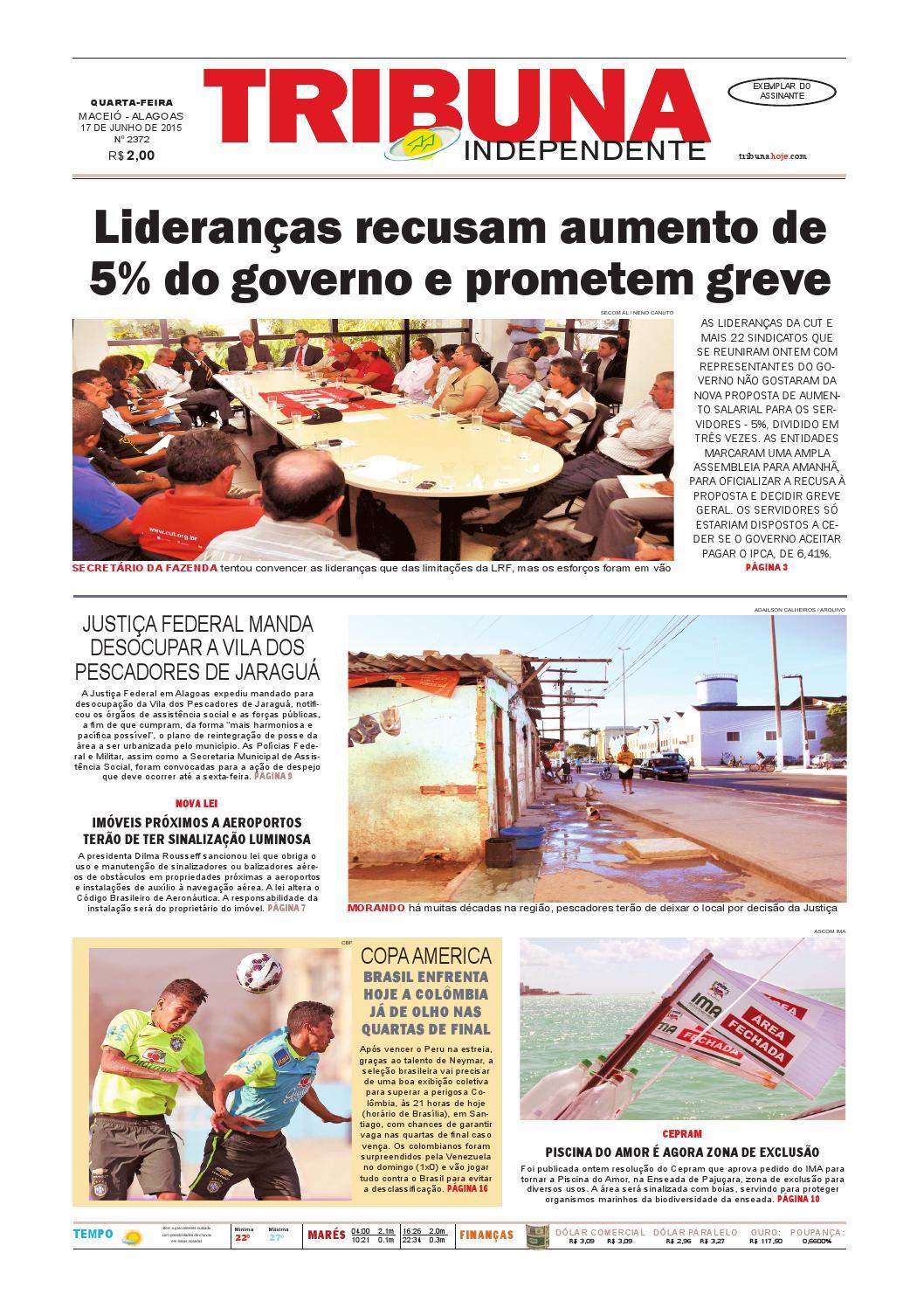 c1c4a99325fc1 Edição número 2372 - 17 de junho de 2015 by Tribuna Hoje - issuu