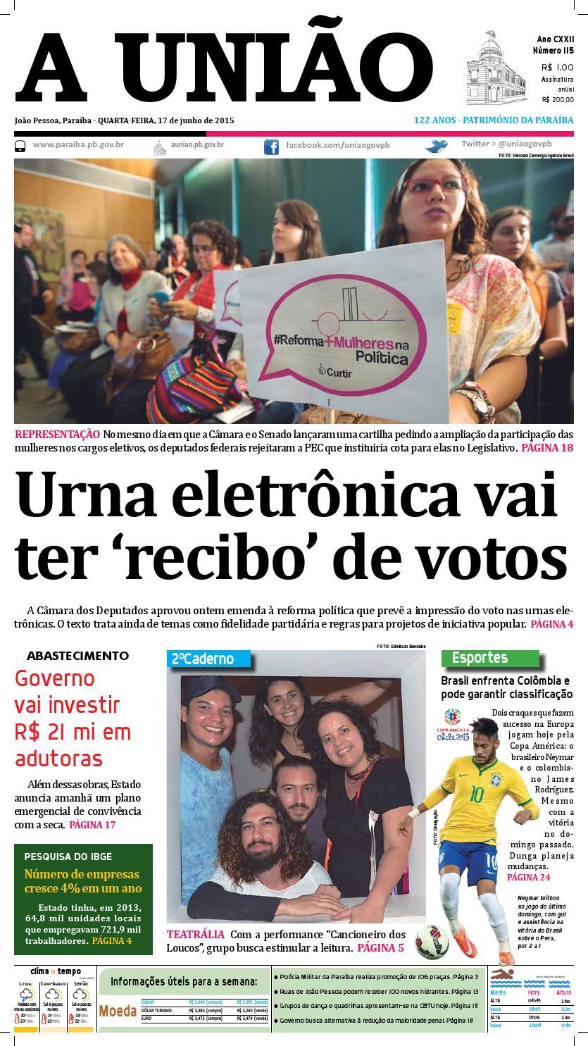 ff3949fd10 Jornal A União - 17 06 2105 by Jornal A União - issuu