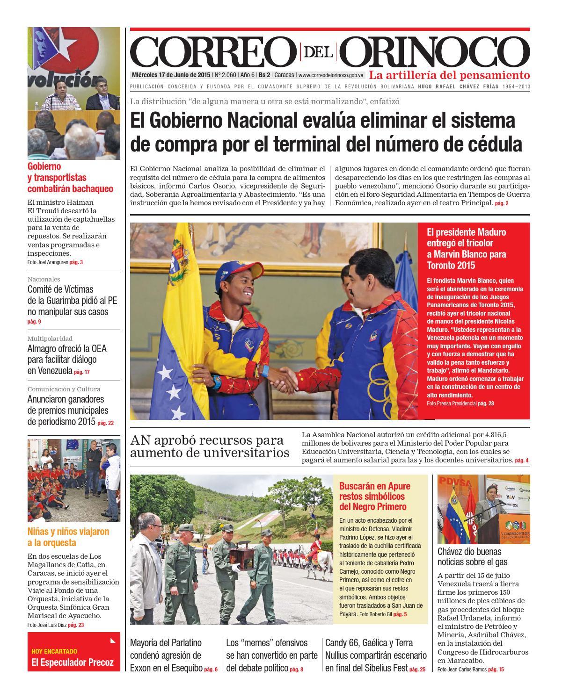 Edición 2060 by Correo del Orinoco - issuu