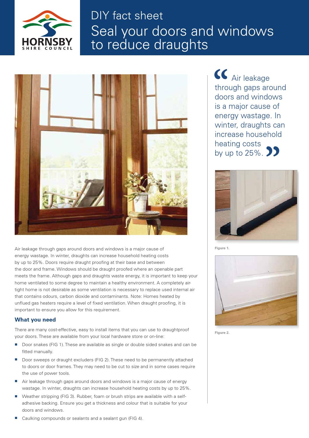 Seal your doors and windows by Hornsby Council - issuu