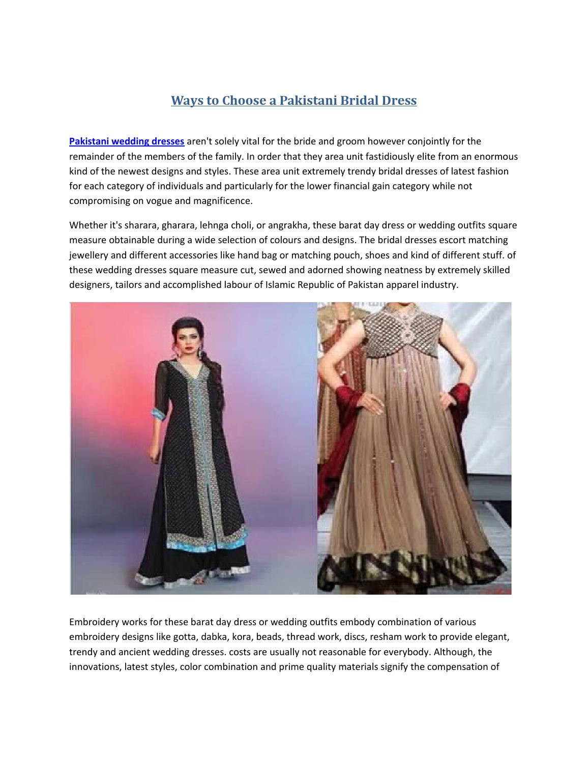 Ways To Choose A Pakistani Bridal Dress By Exclusiveinn Issuu,Design Thinking Video