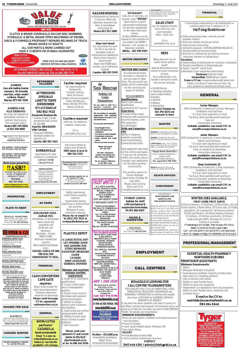 TygerBurger Durbanville 20150617 by Tygerburger Newspaper