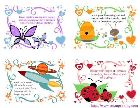 Discount Sticker Printing By Emanprinting Issuu