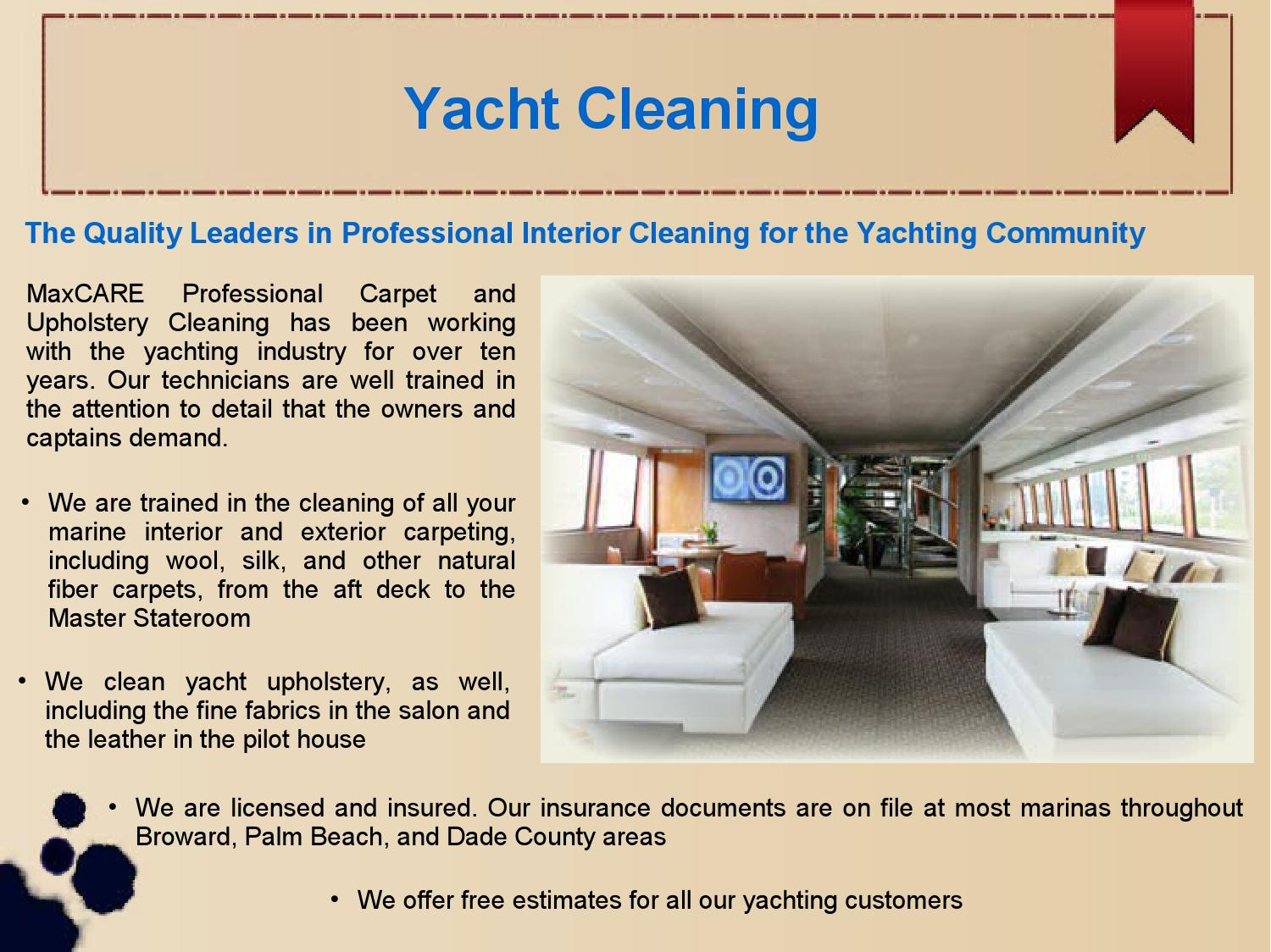Carpet And Furniture Cleaning Exterior yacht upholstery cleaning services miamimakiepoll  issuu