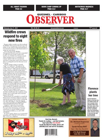 Quesnel cariboo observer june 17 2015 by black press issuu page 1 fandeluxe Images