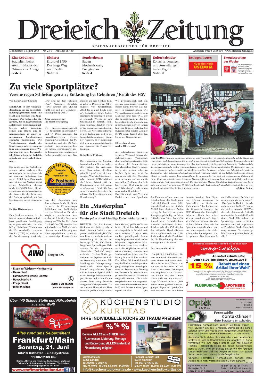 Dz online 025 15 b by Dreieich-Zeitung/Offenbach-Journal - issuu