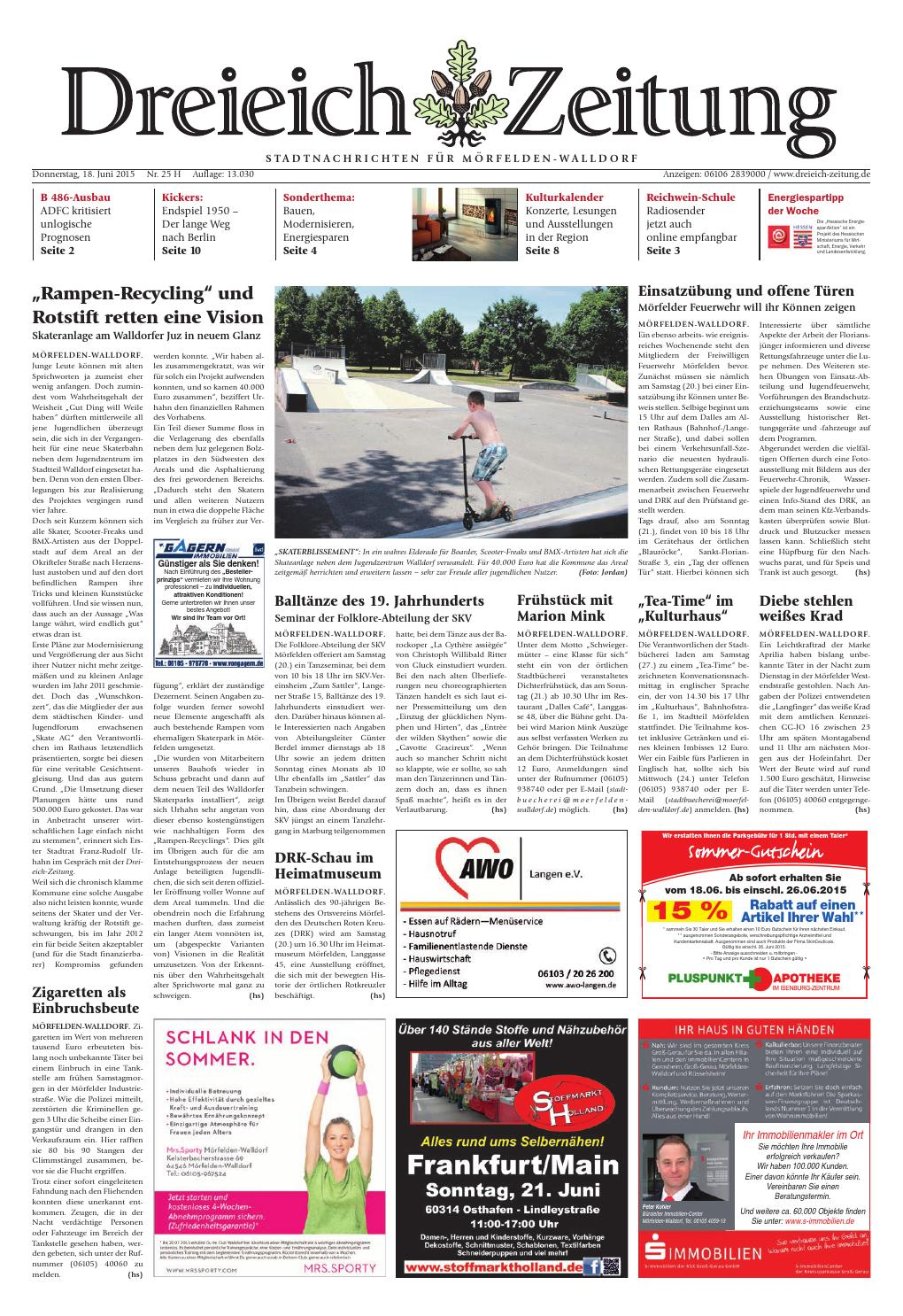 Dz online 025 15 h by Dreieich-Zeitung/Offenbach-Journal - issuu